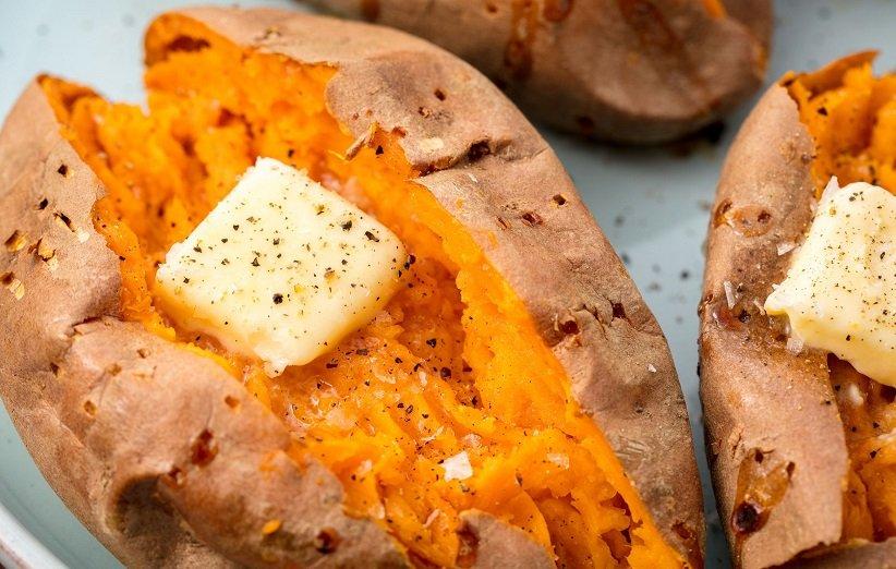 البطاطا الحلوة لتعزيز البصر