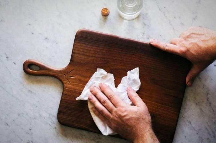 تنظيف لوح اللحم