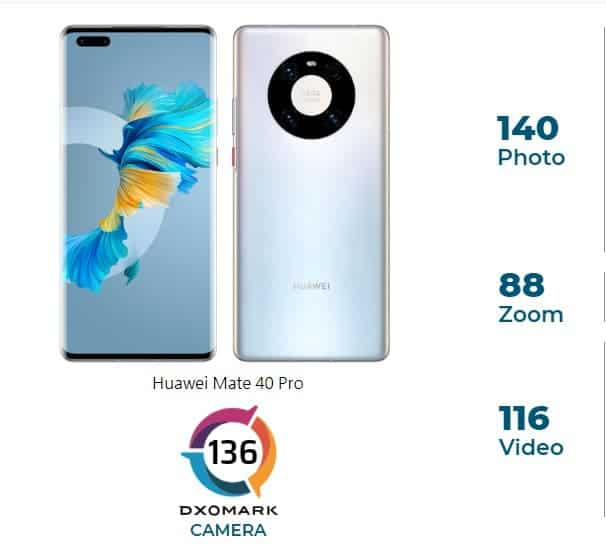 كاميرا Huawei Mate 40 Pro