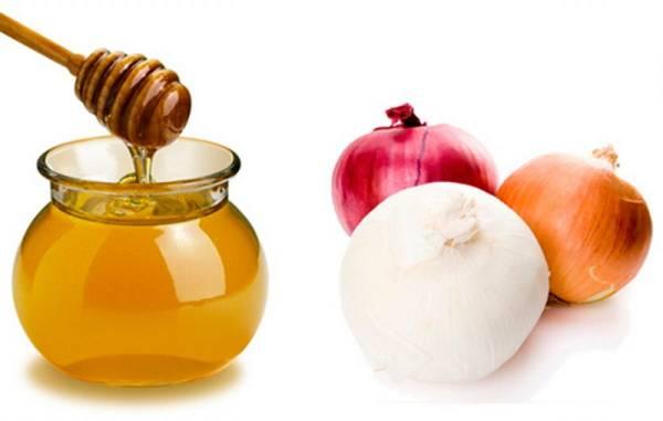 قناع البصل والعسل