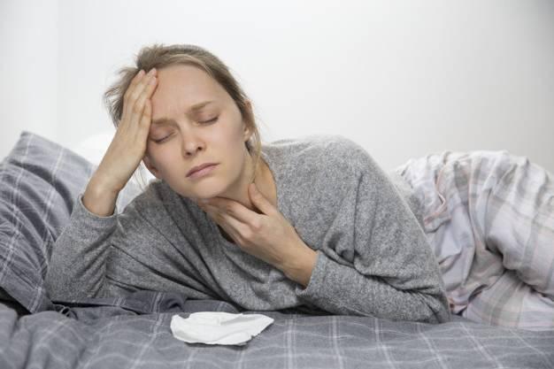 التهاب الحلق والحمى