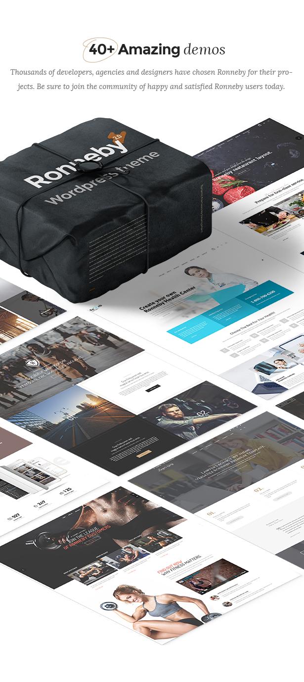 Ronneby - سمة WordPress عالية الأداء - 3