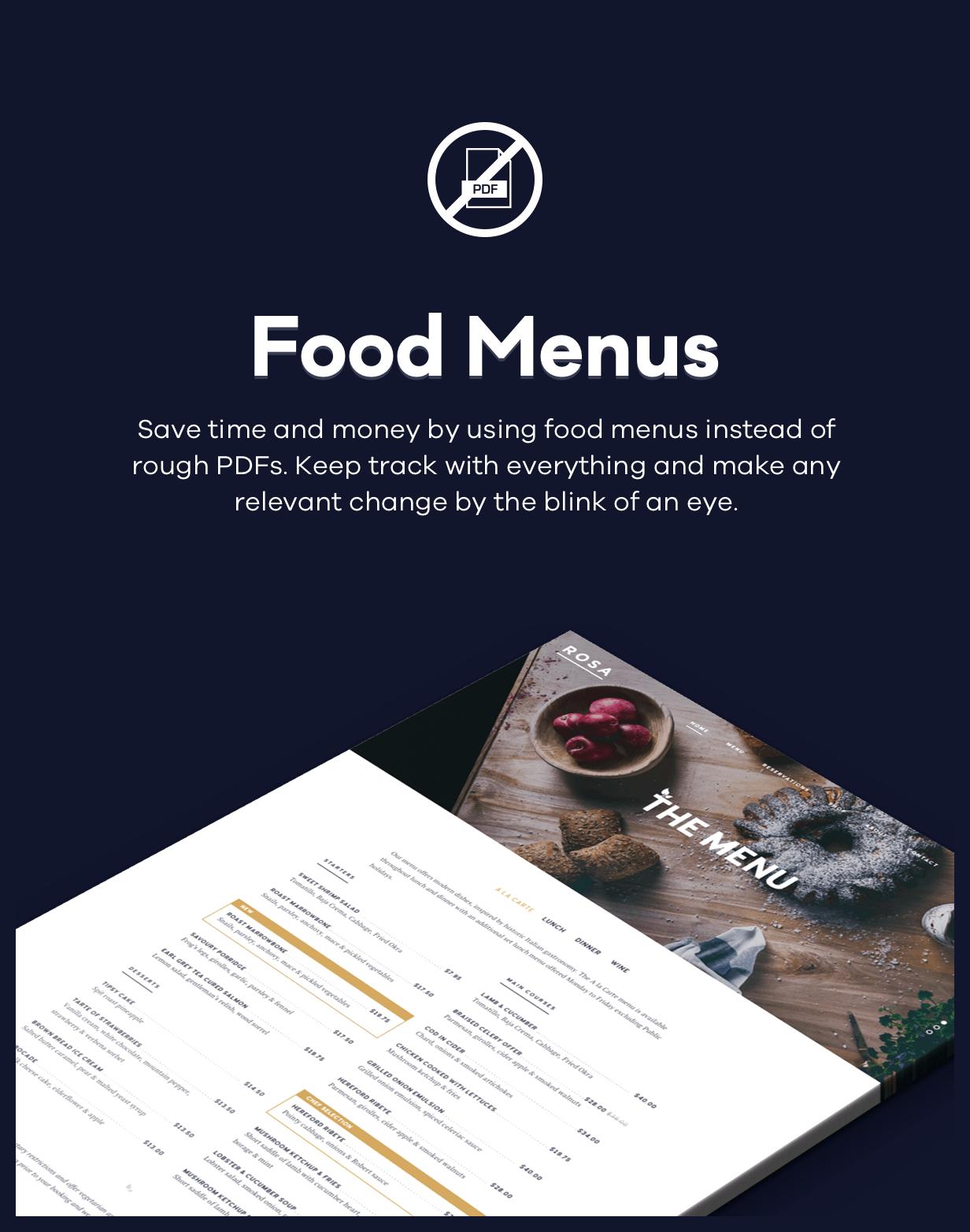 روزا 1 - ثيم WordPress للمطعم الرائع - 3