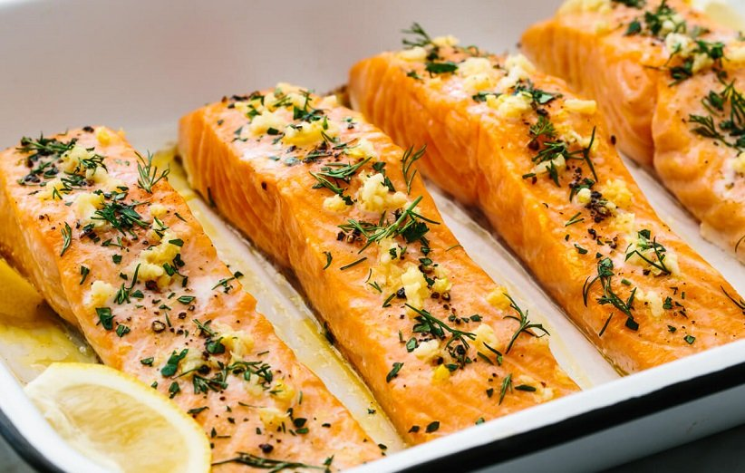 سمك السلمون لزيادة الوزن