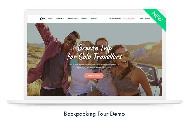 Travel Booking WordPress Theme - 4
