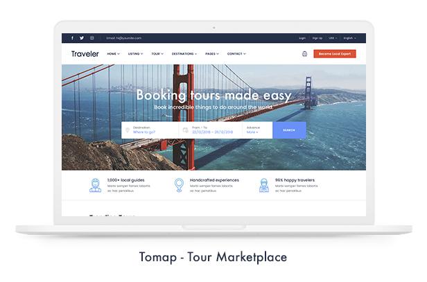 موضوع Travel Booking WordPress - 12