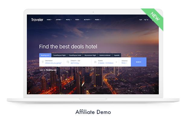 موضوع Travel Booking WordPress - 15