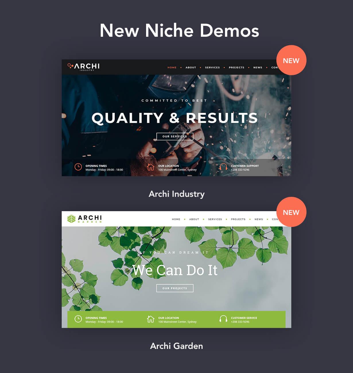 Archi - موضوع التصميم الداخلي WordPress - 7