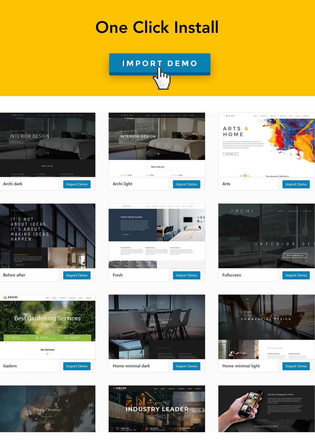Archi - التصميم الداخلي لموضوع WordPress - 11