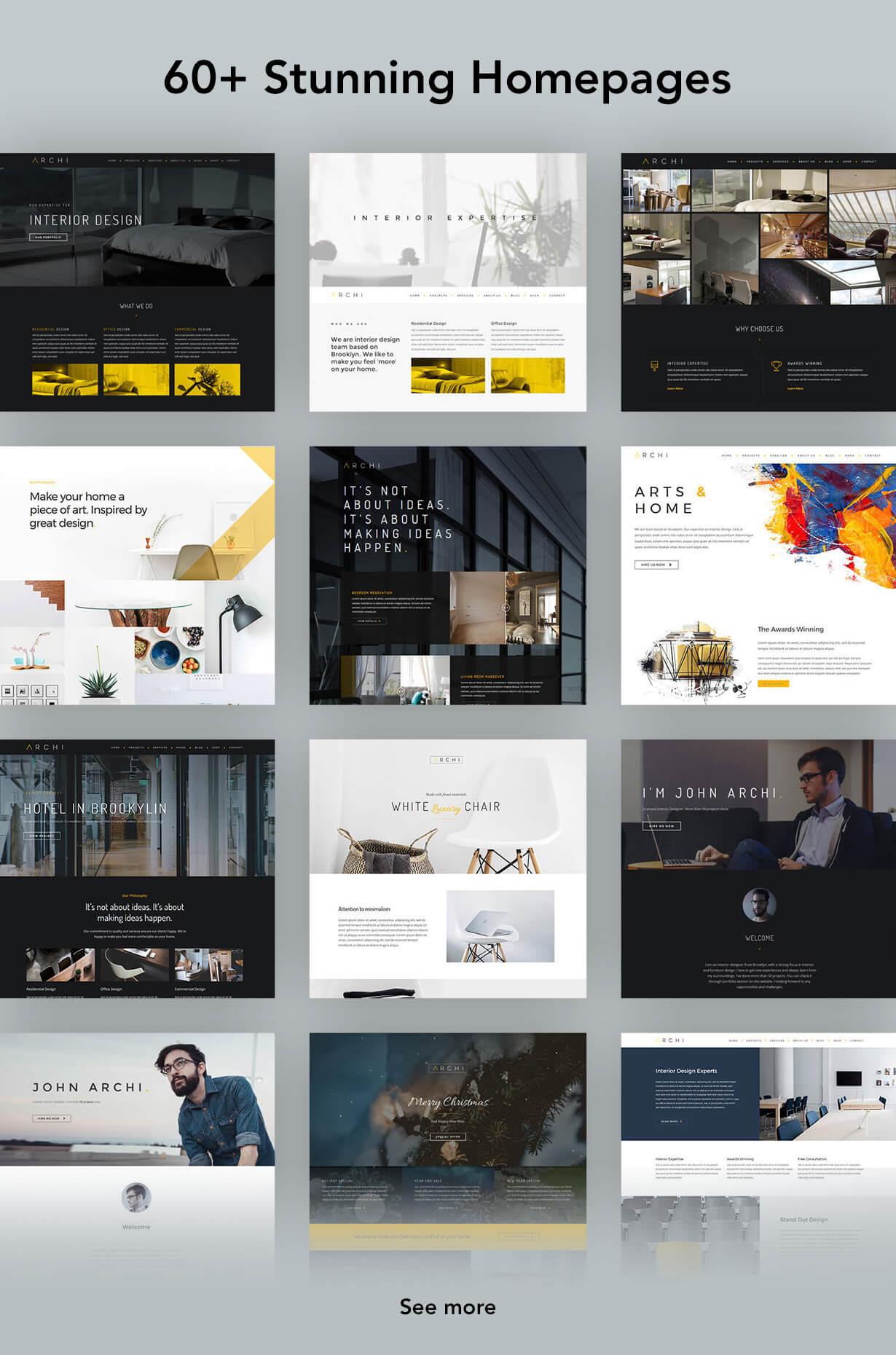 Archi - التصميم الداخلي لموضوع WordPress - 8