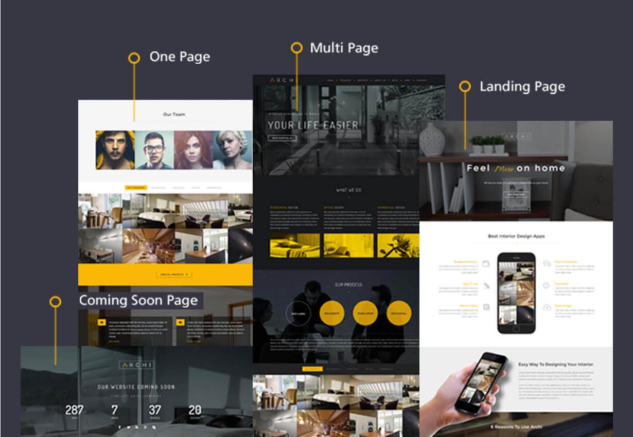 Archi - موضوع التصميم الداخلي WordPress - 17
