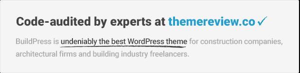 اجتاز BuildPress مراجعة موضوع themereview.co