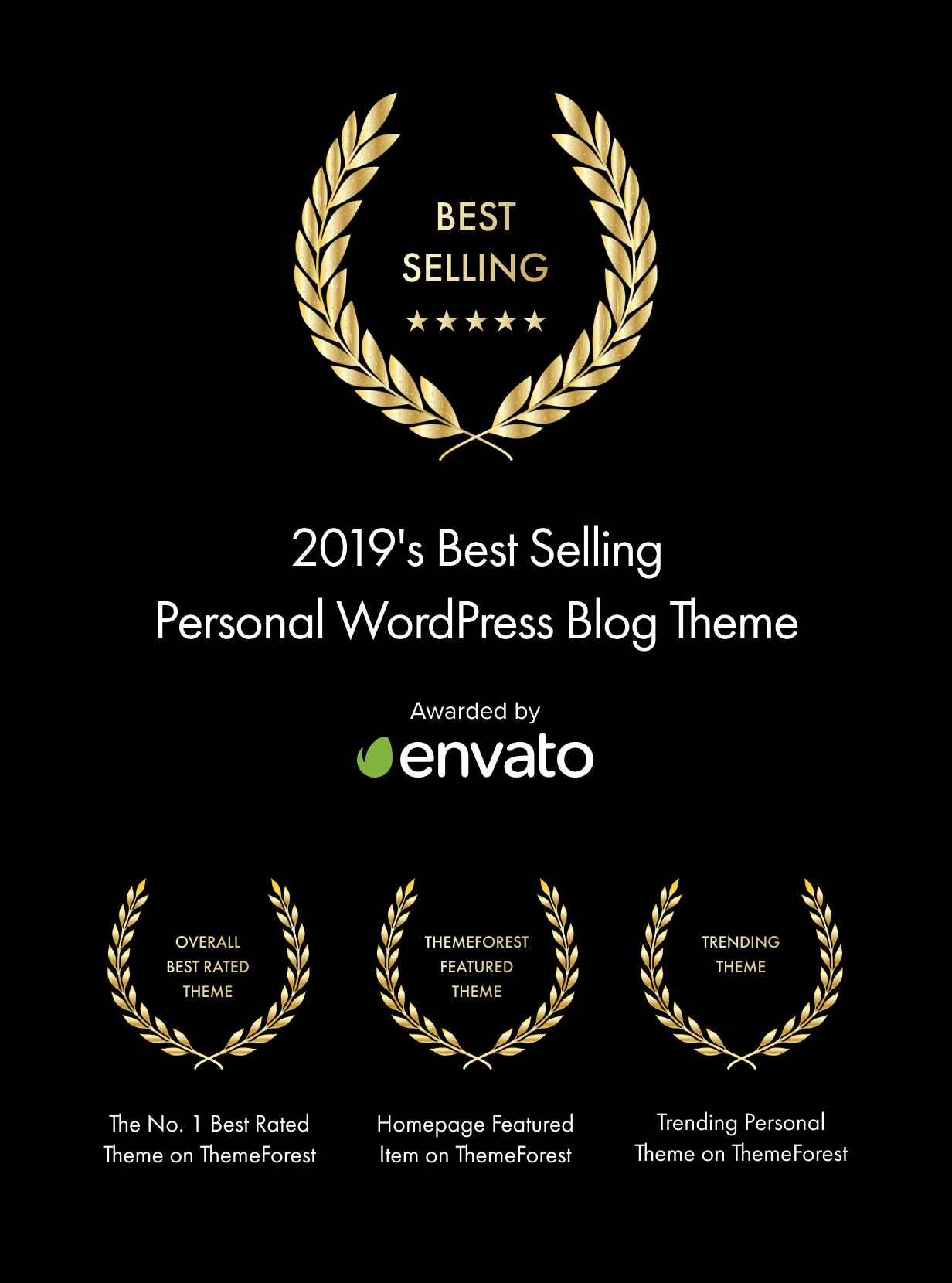 أفضل مظهر لمدونة WordPress الشخصية مبيعًا لعام 2019