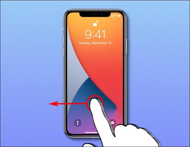 قم بتشغيل شاشة iPhone