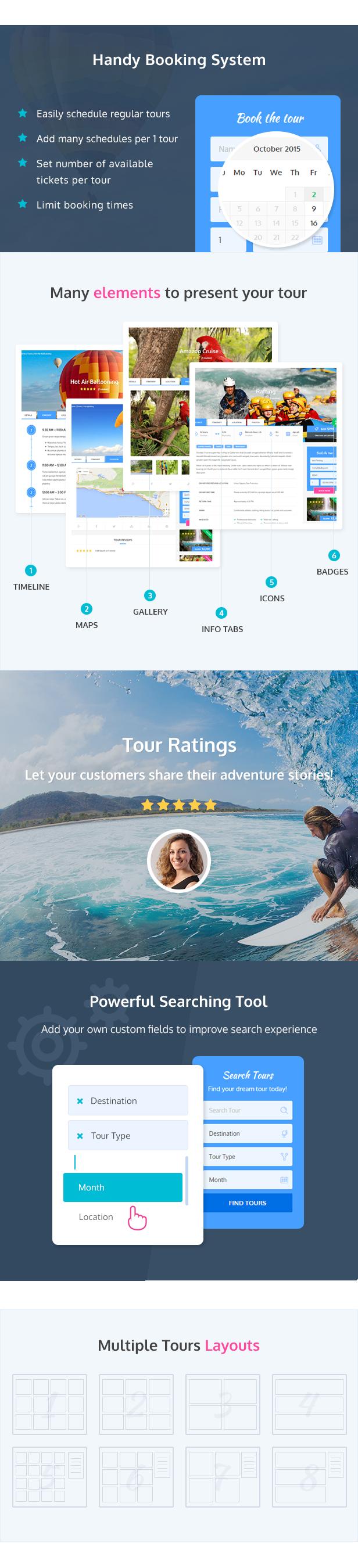 جولات المغامرات - جولة WordPress / موضوع السفر - 3