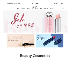 موضوع متجر مستحضرات التجميل والجمال