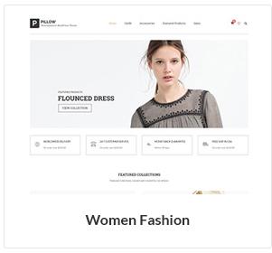متجر أزياء المرأة WooCommerce الموضوع