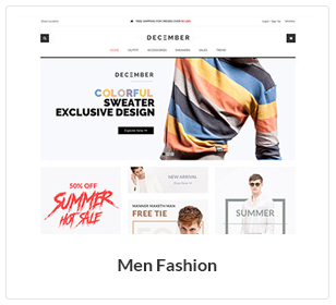موضوع أزياء الرجال WooCommerce