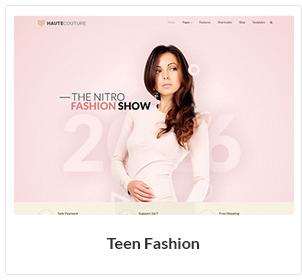 موضوع الموضة في سن المراهقة WooCommerce