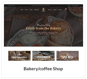موضوع مخبز ومقهى WooCommerce