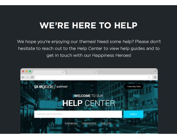 PixelGrade مكتب المساعدة