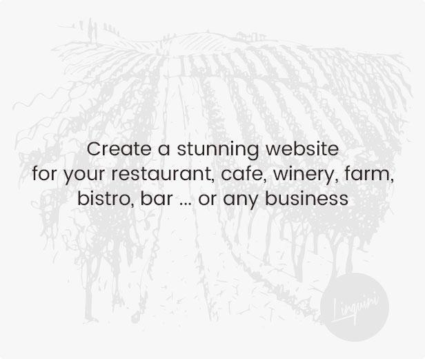 قم بإنشاء موقع ويب مذهل لمطعمك أو مقهى أو مصنع نبيذ أو مزرعة أو حانة أو بار ... أو أي عمل تجاري