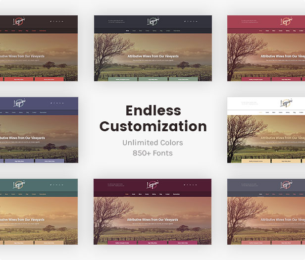 تخصيص لا نهاية له: اختلافات ألوان غير محدودة ومجموعة كبيرة من أكثر من 700 خط