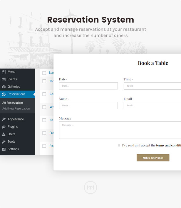 نظام الحجز: قبول وإدارة الحجوزات في مطعمك وزيادة عدد رواد المطعم