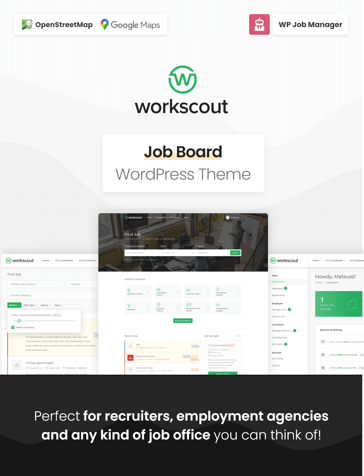 WorkScout - موضوع وورد لوحة الوظائف - 3