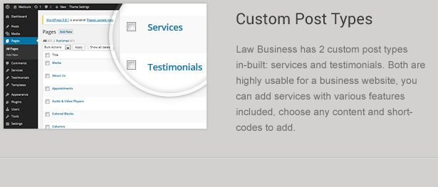 أنواع المنشورات القانونية المخصصة