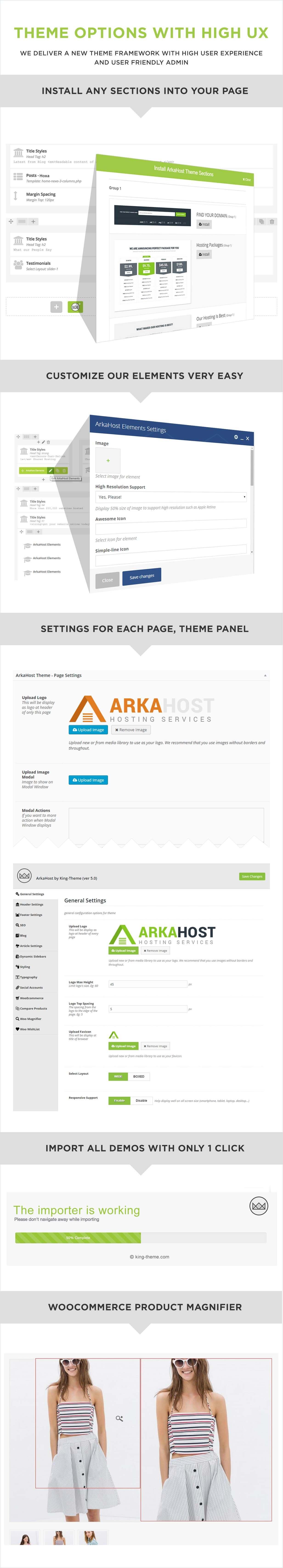 وصف موضوع استضافة ArkaHost وورد 7