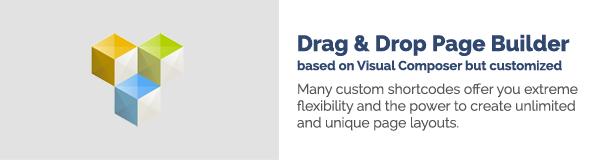 اسحب n Drop Page Builder استنادًا إلى Visual Composer ولكن تم تخصيصه توفر لك العديد من الرموز القصيرة المخصصة مرونة قصوى وقدرة على إنشاء تخطيطات صفحات غير محدودة وفريدة من نوعها.