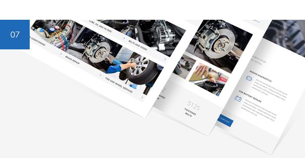 تصليح سيارات ، مرآب ميكانيكي ، خدمة سيارات WordPress Theme