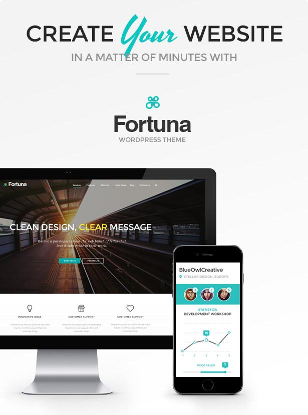 Fortuna - سمة ووردبريس متعددة الأغراض مستجيبة - 1