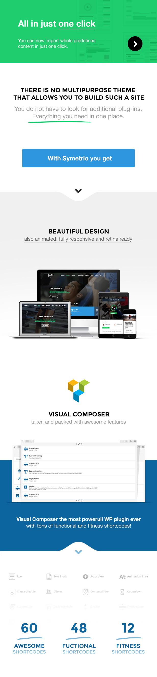 Symetrio - سمة WordPress للجيم واللياقة البدنية - 2