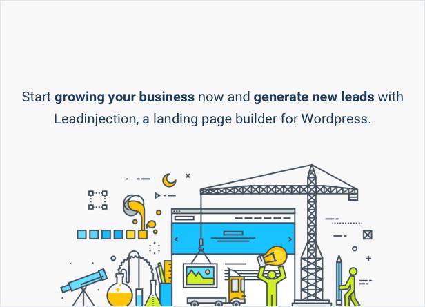ابدأ في تنمية عملك الآن واكتسب عملاء محتملين جدد باستخدام Leadinjection ، وهو منشئ الصفحات المقصودة لـ WordPress.