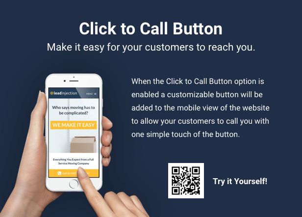 Leadinjection Click to Call Button للأجهزة المحمولة