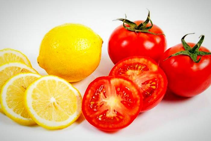 قناع الطماطم والليمون