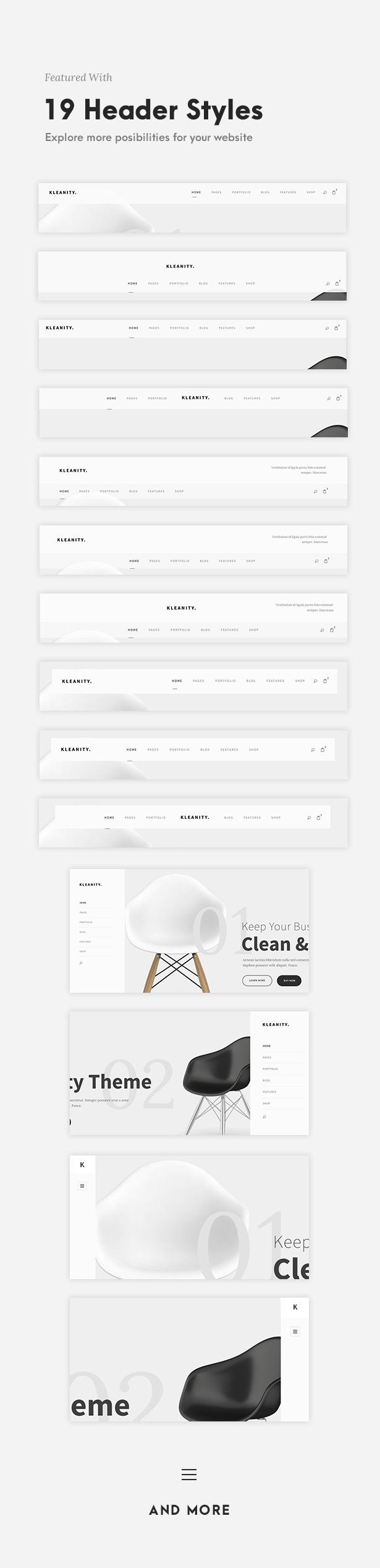 Kleanity - سمة WordPress بسيطة / محفظة إبداعية - 5