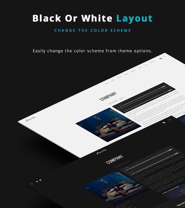 موضوع وورد الموسيقى لوسيل - نظام اللون الأسود أو الأبيض