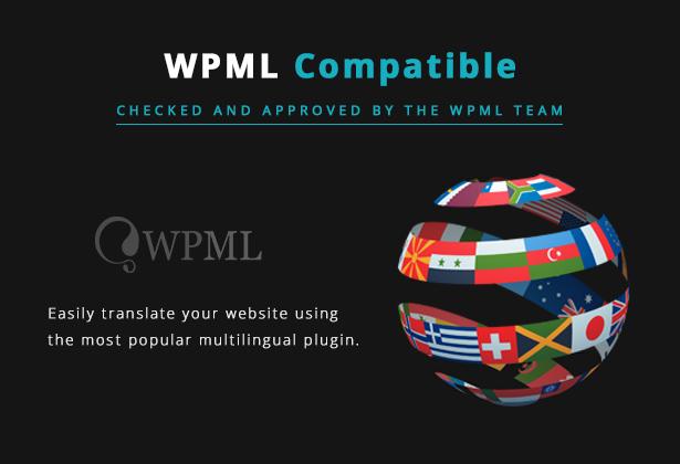 سمة Lucille Music WordPress - سمة متوافقة مع WPML