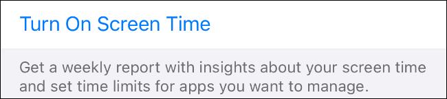اضبط وقت الشاشة على نشط