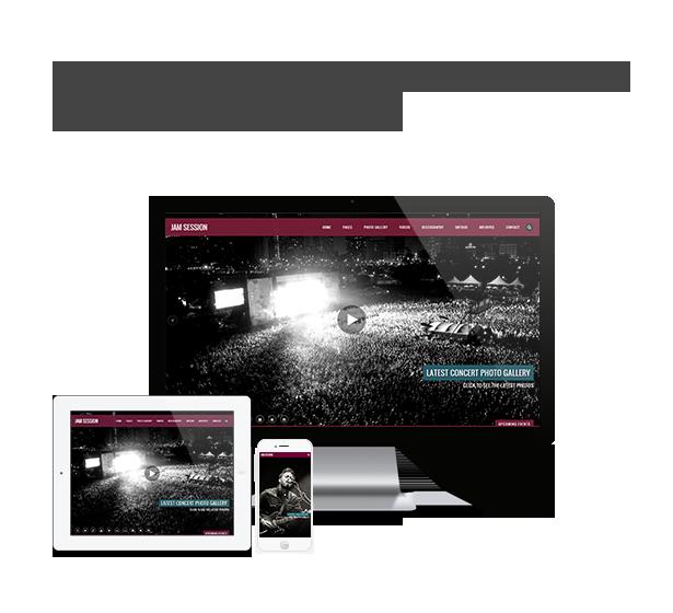 موضوع وورد الموسيقى - JamSession - متجاوب