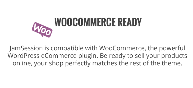 موضوع وورد الموسيقى - JamSession - WooCommerce