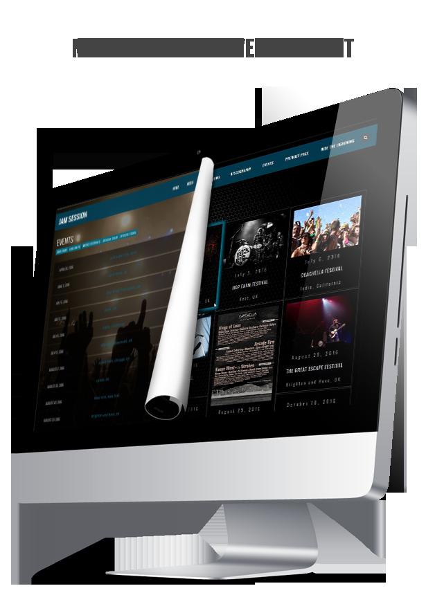 WordPress Music Theme - JamSession - List أو Masonry Layout