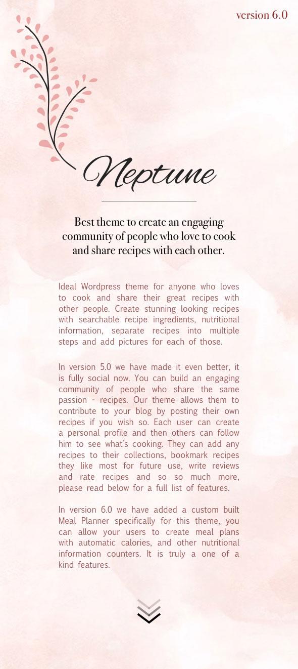 نبتون - موضوع للمدونين والطهاة وصفات الطعام - 1
