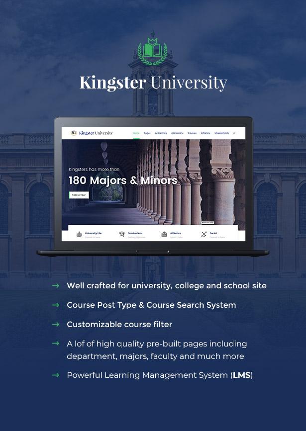 Kingster - Education WordPress للجامعة والكلية والمدرسة - 2