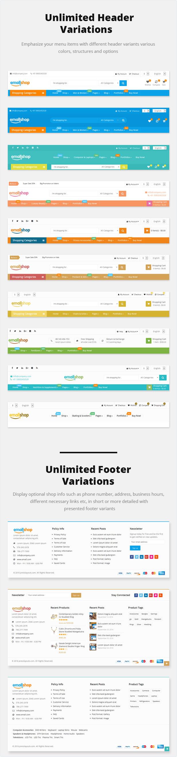 EmallShop - موضوع WooCommerce WordPress سريع الاستجابة 12