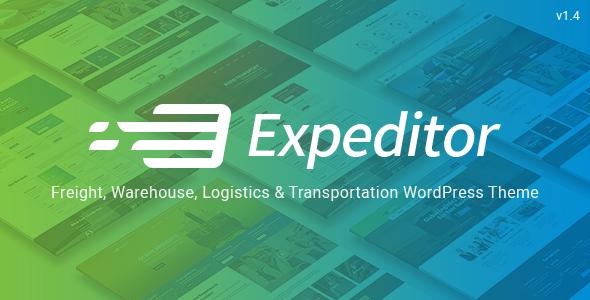 Expeditor - سمة WordPress للوجستيات والنقل