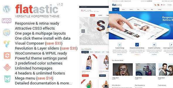 Flatastic - سمة ووردبريس متعددة الاستخدامات متميزة